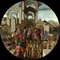 1474, Sandro Botticelli,Alessandro di Mariano Filipepi,1445-1510,Adorazione dei magi,National Gallery,London.