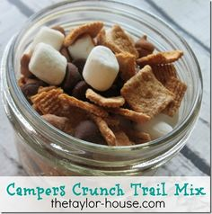 Campers Crunch Trail Mix, Smores trail mix, a perfect camping treat