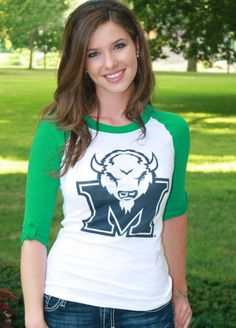 fafce960961 Marshall Roll-Up Baseball Tee.  30.00 Sporty spice. Represent The Herd in  the