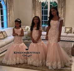 mermaid-lace-arabic-flower-girl-dresses-champagne