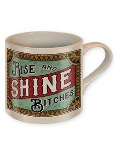 """""""Rise And Shine"""" Coffee Mug by Trixie & Milo #inked #inkedshop #inkedmagazine #mug #coffee #riseandshine"""