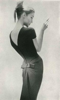 Photographed by Lillian Bassman for Harper's Bazaar, 1956.