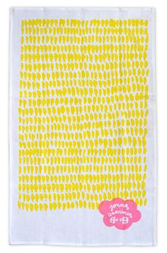 Yellow hundreds and thousands tea towel available for purchase at Adore Home magazine's online store. $28 www.adoremagazine.com/shop