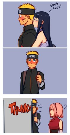 annalovesfiction:   The first time Hinata kissed his neck, right before he went on a mission, Naruto almost walked into Kakashi's office wall.   I'm not saying this is canon but
