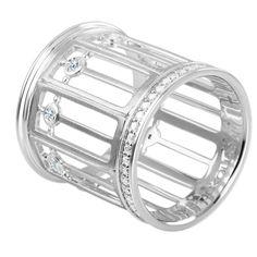Кольцо из белого золота с бриллиантами | ЮБ Роскошь