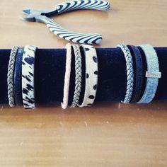 Leren armbanden gemaakt!