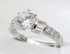Ring - Superb Solitaire Baguette Accented - Solid Sterling Silver - Engagement Ring in the Rings category was listed for on 24 Jul at by amazingfindz in Nelspruit Baguette, Buy Rings, Silver Engagement Rings, Jewelery, Sterling Silver, Stuff To Buy, Jewlery, Jewels, Jewerly