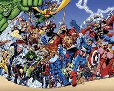 The Avengers in their original format, comic books