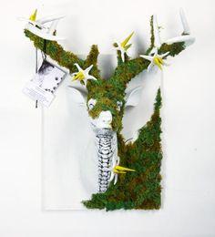 STIERBLUT WIESNHIRSCH ARTCONTEST: Finalist: Hirschkopf In Skelett Optik // Deisgner: Corinna Vonbun // Wer ist der schönste Wiesnhirsch
