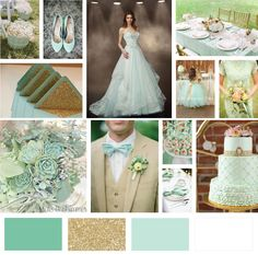 Lucite Green-mint-gold and white :)