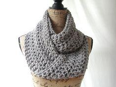 <3 this!   Etsy listing at https://www.etsy.com/listing/205514532/erin-medium-gray-grey-infinity-crochet