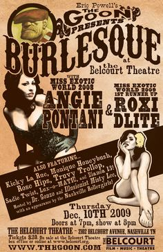 Poster for Butlesque at the Belcourt Theatre