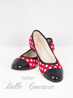 Rockabella Ballerinas 5703 von Atelier Belle Couture 50er Jahre Petticoatkleider Rockabilly Kleider auf DaWanda.com