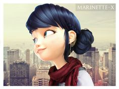 "marinette-x: "" Seriously, Marinette would look super cute in a bun and she can pull off any look omg Instagram "" IM SORRY THIS EDIT IS TOO PRETTY"