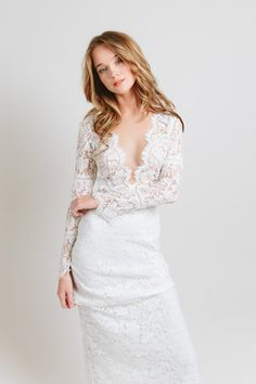 e19b8bd897 Caifornia Haze collection - Venice gown. All over lace dress with long  sleeves, deep
