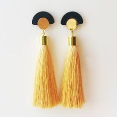 #silk #tassels #earrings #asian #style #suzywandeluxe #gold