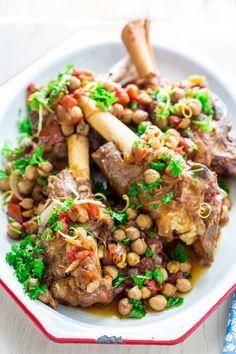 Slow Cooker Moroccan Lamb Shanks on HealthySeasonalRecipes.com
