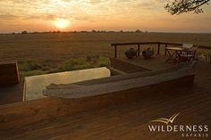 Shumba Camp - A pool with a view - over looking Busanga Plains