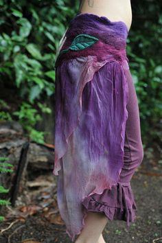 Nuno Felted Silk Chiffon Lily Flower Leaf Fairy by frixiegirl, $132.00
