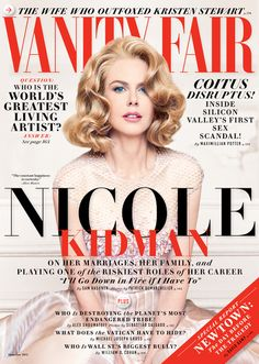Nicole Kidman in #Armani Privè on the December cover of Vanity Fair US. Have always had a thing for her...