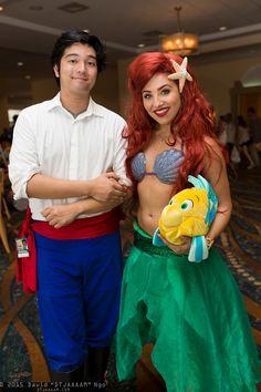 Prince Eric, Ariel, and Flounder