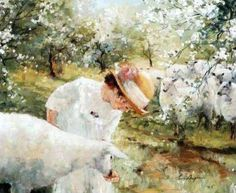 """""""Spring Lamb"""" Maher Art Gallery: Lise Auger"""