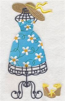 Machine Embroidery Designs at Embroidery Library! - Dress Forms