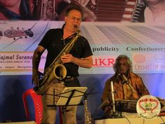 Joy Sarkar on guitar, Subhankar Banerjee on tabla, George Brooks on saxophone and Tarun Bhattacharya on santoor created musical magic at The Tolly Club.