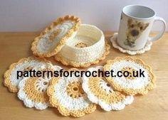 Coaster & Coaster Basket Free Crochet Pattern « The Yarn Box by dimitra.dimitriadou.16
