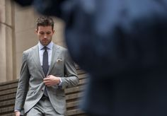 A gray #suit is very versatile & appropriate in most #office settings!  Polish it with a crisp #shirt & #tie, and #voila!  #men  www.twitter.com/MargaretBatting