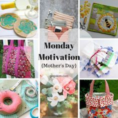 Monday Motivation includes free patterns and tutorials to make handmade for this special day! Sewing Patterns Free, Free Sewing, Free Pattern, Sewing Hacks, Sewing Projects, Sewing Tips, Major Holidays, Craft Storage, Couture