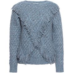 Rebecca Taylor - Fringe Sweater ($395) ❤ liked on Polyvore featuring tops, sweaters, fringe top, chunky knit sweater, fringe sweater, carven sweater and thick knit sweater
