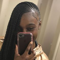 Image may contain: one or more people, phone and closeup Black Girl Braids, Braids For Black Hair, Girls Braids, Braided Cornrow Hairstyles, African Braids Hairstyles, Curly Hairstyles, Lemonade Braids Hairstyles, Cute Hairstyles For Kids, Twist Braids