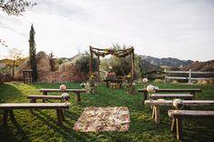 Gypset, travel inspired ceremony decor