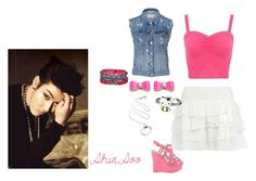 """""""ShinSoo1"""" by nyynyy-mato ❤ liked on Polyvore featuring River Island, rag & bone, Hello Kitty and Hollister Co."""