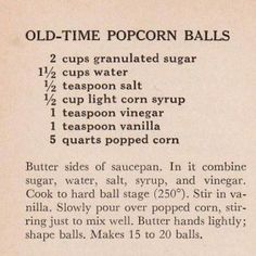 Molasses Christmas Balls Vintage Recipe I think I will try old fashioned popcorn balls with this recipe. Molasses Christmas Balls Vintage Recipe I think I will try old fashioned popcorn balls with this recipe. Oreo Popcorn, Marshmallow Popcorn, Homemade Popcorn, Popcorn Recipes, Homemade Candies, Candy Recipes, Snack Recipes, Dessert Recipes, Vintage Ads
