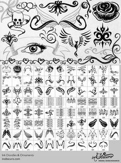 Free Adobe Photoshop brush set featuring borders butterflies moths ...