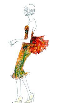 ミニドレスのデザイン画 の画像|ファッションイラストレーター香織のブログ
