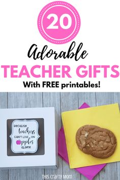 Looking for teacher appreciation gift ideas with free printables? Check out this post with 20 easy teacher appreciation gift ideas! Teacher Appreciation Gifts, Teacher Gifts, Staff Gifts, Teacher Stuff, Thank You Gifts, Gifts For Him, Diy Gifts, Best Gifts, Happy Home Fairy