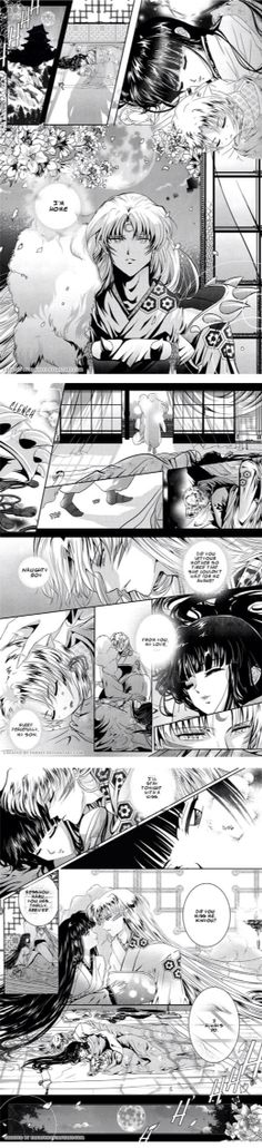 I don't like the whole Kikyo and Sesshomaru pairing but since it's such a cute manga strip I can live with pretending it's an older Rin