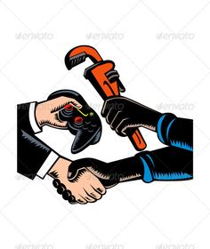 Hands Barter Plumbing Gamer Game Controller