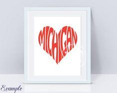 Digital Michigan Word Art Michigan jpg png eps svg dxf