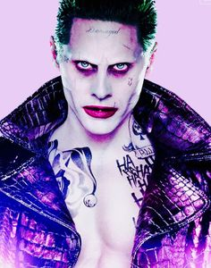 SUICIDE SQUAD MOVIE The Joker.I can only hope that I find this man so attractive because I subconsciously know it's my lifelong love Jared Leto underneath because I'm not sure I want to know what it says about females who find this appealing. Jared Leto Joker, Christian Bale, Joaquin Phoenix, Gotham City, Fan Fiction, Suiside Squad, Harley Quinn Et Le Joker, Les Oscars, Kings & Queens