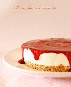 Baunilha e Caramelo: Cheesecake de Morango