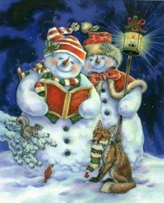 Рождество в картинах Donna Race.. Комментарии : LiveInternet - Российский Сервис Онлайн-Дневников