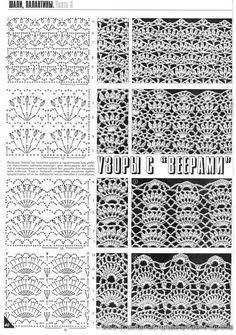 écharpe dentelle crochet - Recherche Google