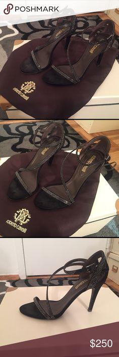 Roberto Cavalli Sandals Very Elegant Satin Roberto Cavalli Sandals - size 6 - Very Good Condition - Including Dust Bag Roberto Cavalli Shoes Sandals