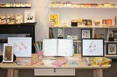 Rifle Paper Co. and Garance Dore on the Northlight Stand, Top Drawer London