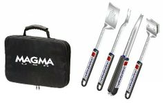 Magma Products Telescoping Grill Tool, Set of 5 (Black) by Magma. Save 2 Off!. $78.40. 5 Piece Telescoping Stainless Steel Grilling Tool Set includes Spatula, Tongs, Fork, Grill Brush, and Carry/Storage Case. 5-Piece Grill Tool SetA10-132TIncludes:Telescoping SpatulaTelescoping ForkTelescoping TongsTelescoping BrushStorage Case