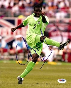 Joseph Yobo Autographed 8x10 Photo Nigeria PSA/DNA